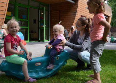 buitenspelen kinderdagverblijf Villa Zeezicht Muiderberg