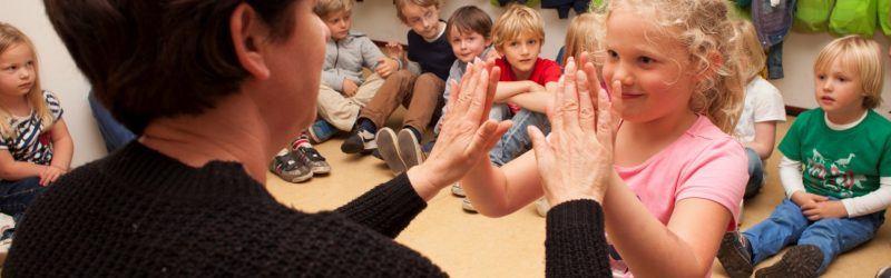 spelen met de leidster BSO Ravelijn Kinderrijk Naarden