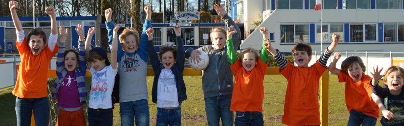 Juichende kinderen BSO de Kuil Bussum