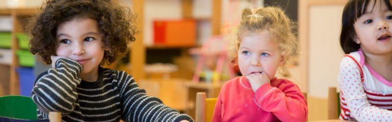 Blije kinderen bij Peuterspeelzaal de Regenboog Bussum