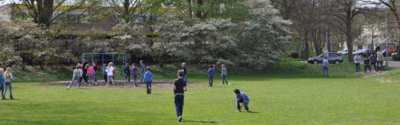 Buiten spelen bij TSO Minister Calsschool