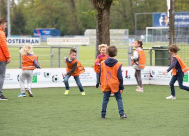 voetballen bij BSO Spiegelweide Bussum