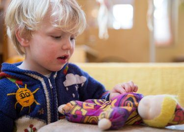 Peuters spelen bij kinderdagverblijf Michaël